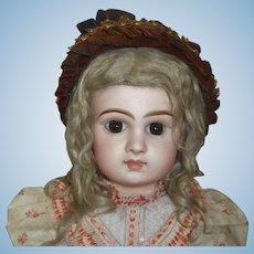 Wonderful Antique Straw and Velvet Doll Bonnet
