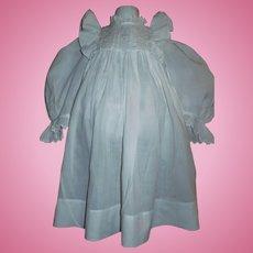 Pretty Antique White Dress for a Large Doll, Kestner, Handwerck