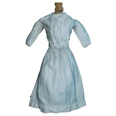 Early Antique Off White Cotton Doll Dress, China, Fashion