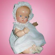 Precious Composition Gem Baby Doll, All Original, Ca 1920-30s