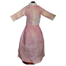 Pink Antique Cotton Chambray China Doll Dress