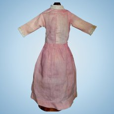 Pink Antique Cotton Chambray China Doll Dress