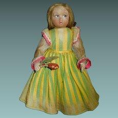 Early Felt Lenci Type Doll, Original Clothes