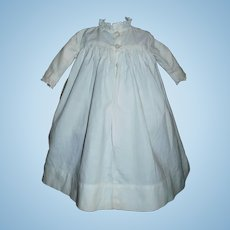 Nice White Cotton Doll Gown, Lace Trim