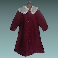 Sweet Early Wool Challis / Silk Doll Coat