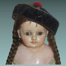 Antique Doll Hat, Possibly Oriental