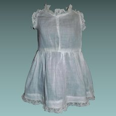 Nice Antique White Lace Trimmed Doll Chemise