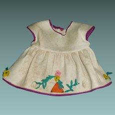Early Felt Doll Dress, Possibly Lenci TLC