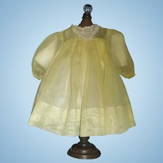 Pretty Vintage Yellow Organdy Doll Dress