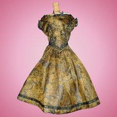 Wonderful Fashion / Lady Silk Brocade Doll Dress