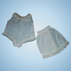 2 Pieces of Early Undergarments, Onesie and Petticoat