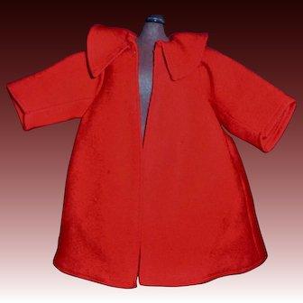 Nice Early Vintage Red Wool Doll Coat