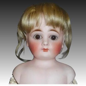 Small Antique Blonde Mohair Fashion Doll Wig