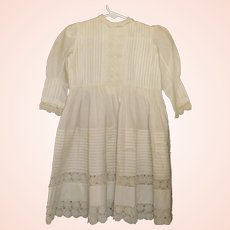 Lovely Girl's White Early Dress, Fabulous Lace