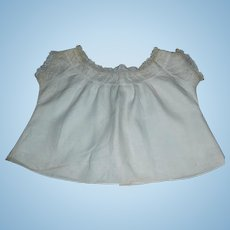 Lovely Antique Pale Ecru Doll Bodice / Chemise