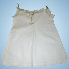 Pretty Antique  Cotton Doll Chemise with Lace and Ribbons