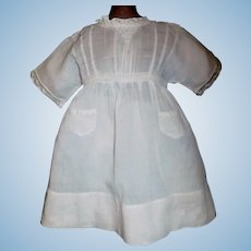 Adorable Antique Doll Dress, 2 Little Pockets