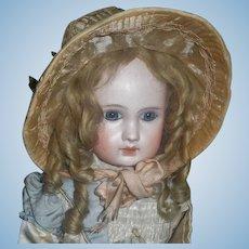 Fabulous Antique Pink Silk Wire Brim Doll Bonnet
