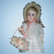 Sweet Antique Doll Winter Headband and Muff