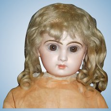 Wonderful Antique Blonde Mohair Doll Wig, French / German