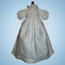 Sweet Antique White Cotton Small Doll Dress / Gown