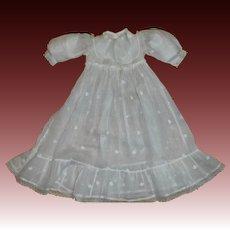 Pretty Antique Batiste Doll Dress
