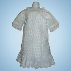 Lovely White Cotton Antique Child / Doll Dress
