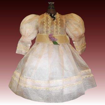 Lovely Sheer Organdy Lilac Doll Dress