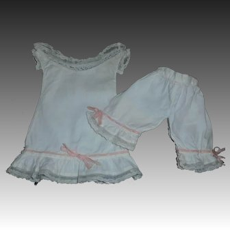 Nice Set of Small Antique Undergarments, French or German Bebe