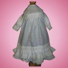Nice White Cotton Doll Chemise / Dress