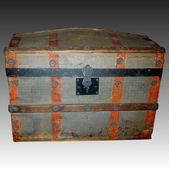 Antique Wood Doll Trunk, Needs Work