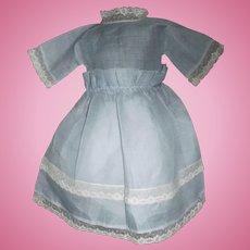 Pretty Blue Organdy Doll Dress