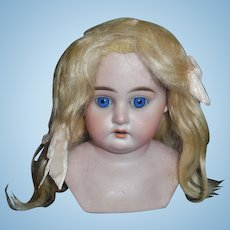 Light Blonde Mohair Doll Wig