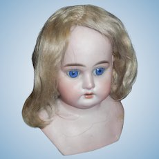Antique Blonde Mohair Doll Wig TLC