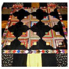 Lovely Antique Silk Quilt Needs TLC