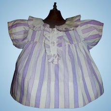 Cute Purple Stripe Cotton Doll Dress