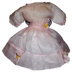 Sweet Vintage Pink Organdy Doll Dress