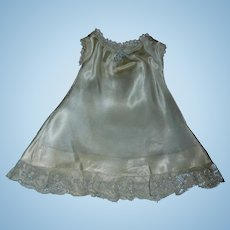 Pretty Silk Satin / Lace Early Vintage Doll Slip