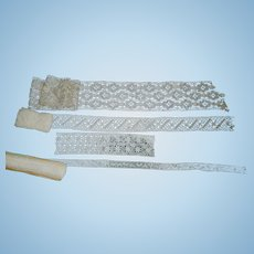 Lovely Early Cotton Lace for Doll Clothes