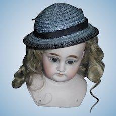 Nice Blue Straw Doll Hat