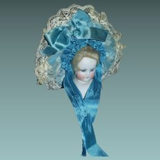 Pretty Doll Bonnet, Ribbons and Lace
