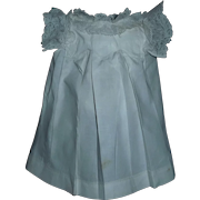 Sweet Crisp White Pleated Cotton Doll Dress