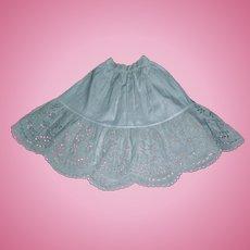 Lovely Antique White Cotton Eyelet Petticoat