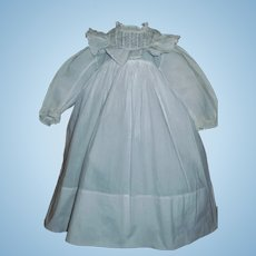 Wonderful Antique White Cotton Dress for a Large Doll