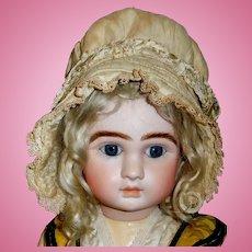 Lovely Antique Silk Bonnet for a Large Doll