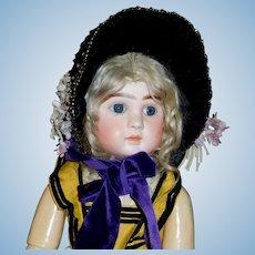 Fabulous Antique Straw Doll Bonnet