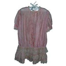 Fabulous Antique Pink Silk Girl's Dress