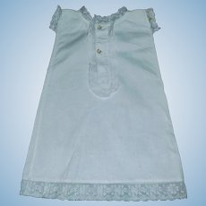 White Cotton Antique Doll Chemise