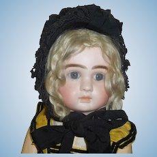 Antique Black Silk Bonnet