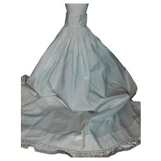 Lovely White Cotton Antique Petticoat, China, Cloth